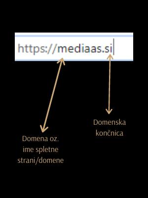 Domena oz. ime spletne strani/domene