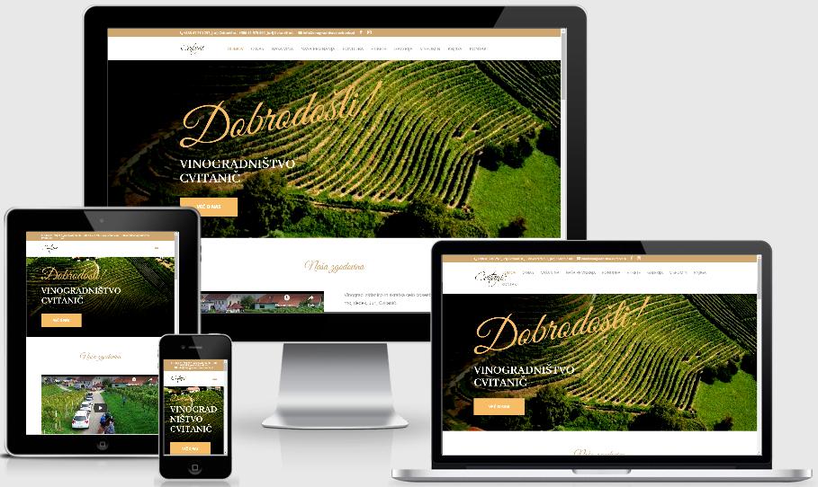 Izdelava spletne strani vinogradnistvo Cvitanic